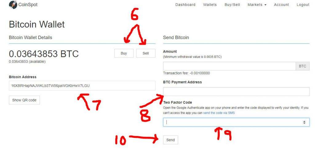 I copy and paste this address into my Coin Base Platform SEND BOX to send  BTC to my Coin Spot Wallet.